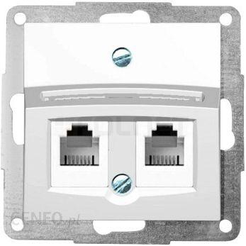 Hager Gniazdo komputerowe MOLEX data-gate kat 5E RJ 45 pojedyncze ekranowane Polo Fiorena 22028303