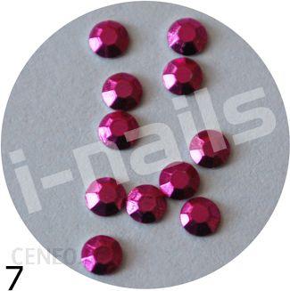Cyrkonie metaliczne - 10szt. - 3mm  sz07 fuksja