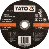 Yato Tarcza do cięcia metalu 230x3.2x22 mm