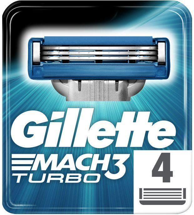 Gillette Mach3 Turbo wymienne ostrza 4szt