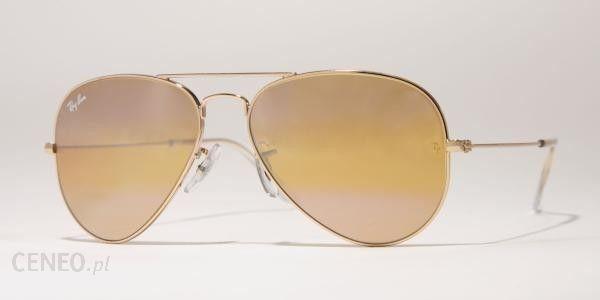Ray-Ban okulary przeciwsłoneczne AVIATOR LARGE METAL 3025 001/4F M+UBEzPIECzENIE