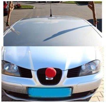 GoDan Dekoracja na samochód na Boże Narodzenie: rogi renifera i czerwony nos, 1 kpl.