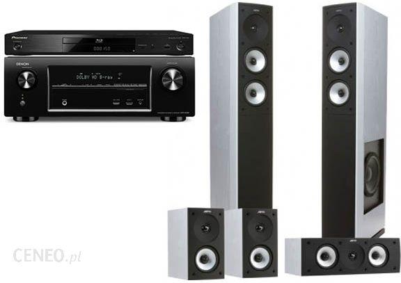 DENON AVR-X3000 + BDP-450 + JAMO S626 HCS białe