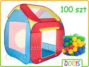 Doris Namiot Domek + Piłeczki 6 Kol. Zestaw 100 Szt Prom/Nam/Pil
