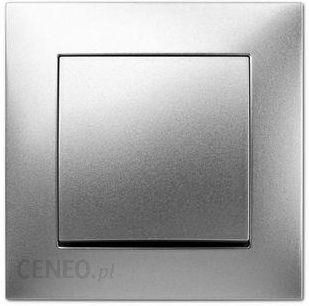 Elektro-plast Włącznik Pojedynczy Carla 8,2x8,2x4,4 Tworzywo Sztuczne Srebrny