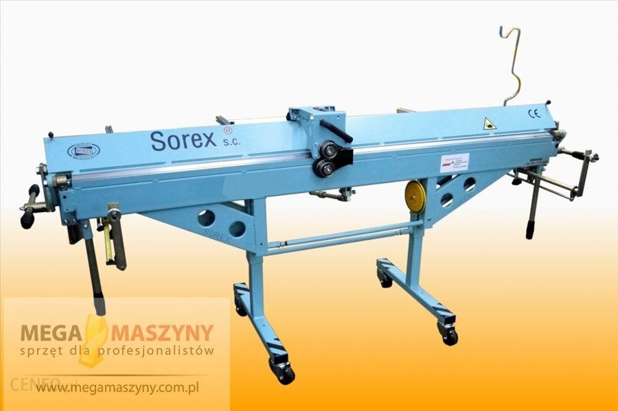 SOREX Zaginarka dekarska do blachy + nóż krążkowy ZRS-2160L z dodatkowym osprzętem