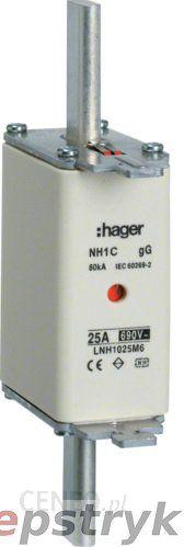 Hager Bezpiecznik Nożowy Typ Nh00 Wsk.Podwójny Uchwyt Nieiz. Gg 160 A 690 V A.C. Lnh1160M6