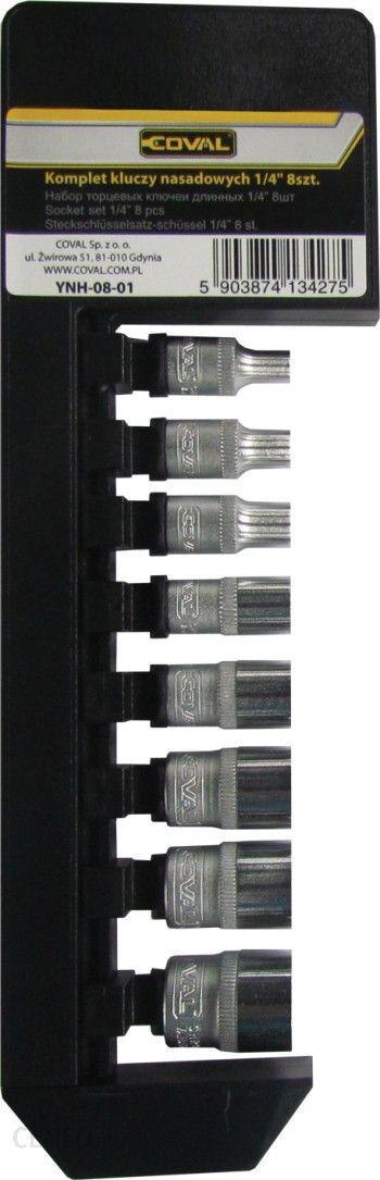 Coval Klucze nasadowe 1/4 8szt YNH-08-01