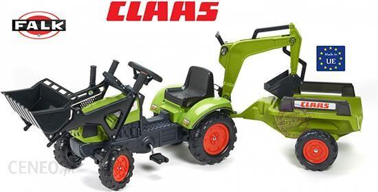 Falk Falk Traktor Claas Arion Zestaw Z Przyczepą Łyżka + Ładowarka 2040N