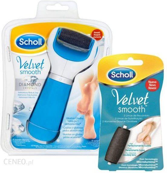 Scholl Velvet Smooth elektroniczny pilnik do stóp + Velvet Smooth 2 szt.