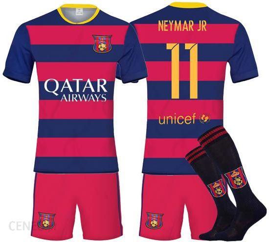 Fcbjr Komplet dla dzieci i getry FC Barcelona + nadruk Neymar Jr 11