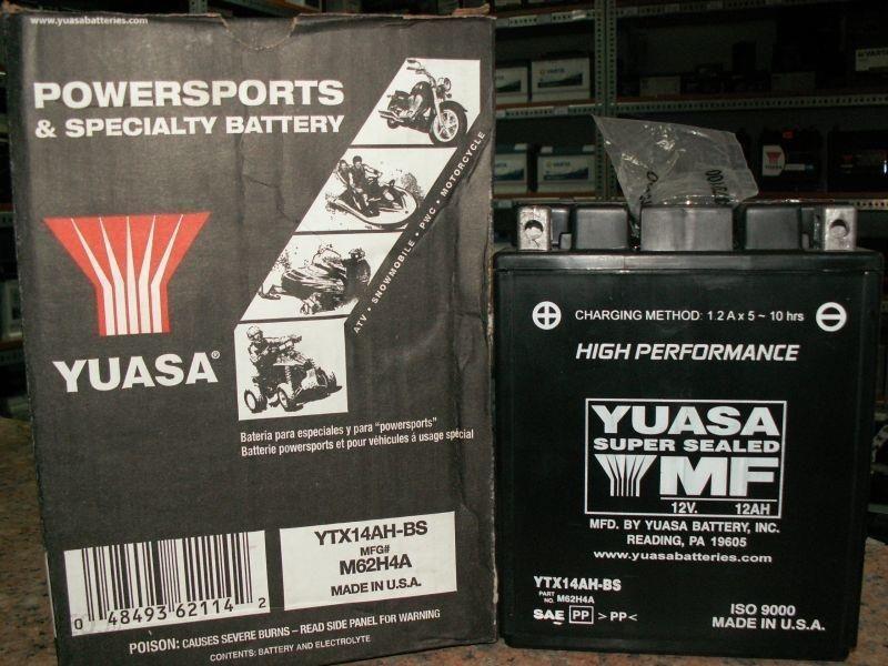 YUASA YTX14AH-BS 12V 12Ah