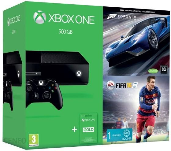 Microsoft Xbox One 500GB + FIFA 16 + Forza Motorsport 6