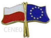 DIYO Przypinka flaga Polska-Unia Europejska BD097