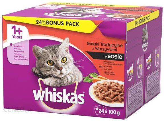 Whiskas Multipack Z Mięsem I Warzywami 24X100G