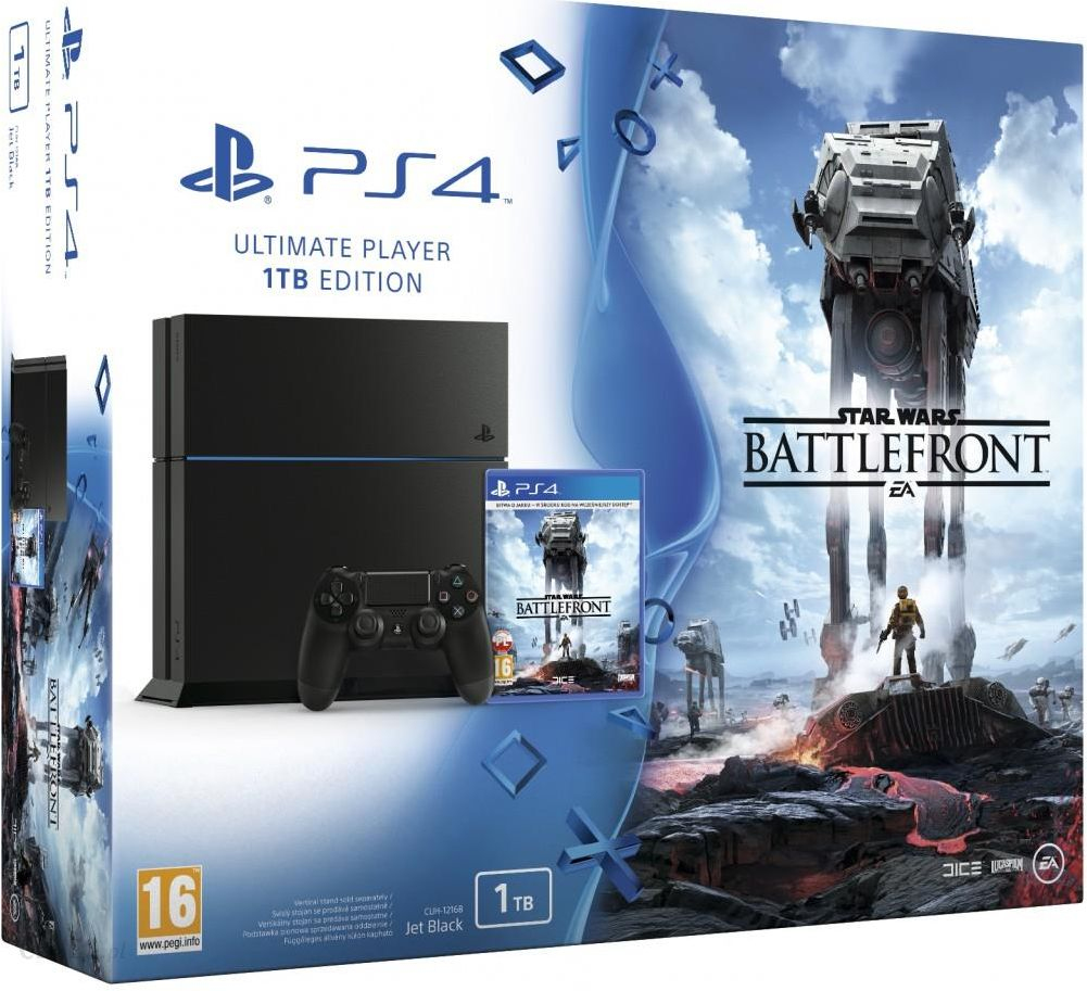Sony PlayStation 4 1TB Czarna + Star Wars: Battlefront