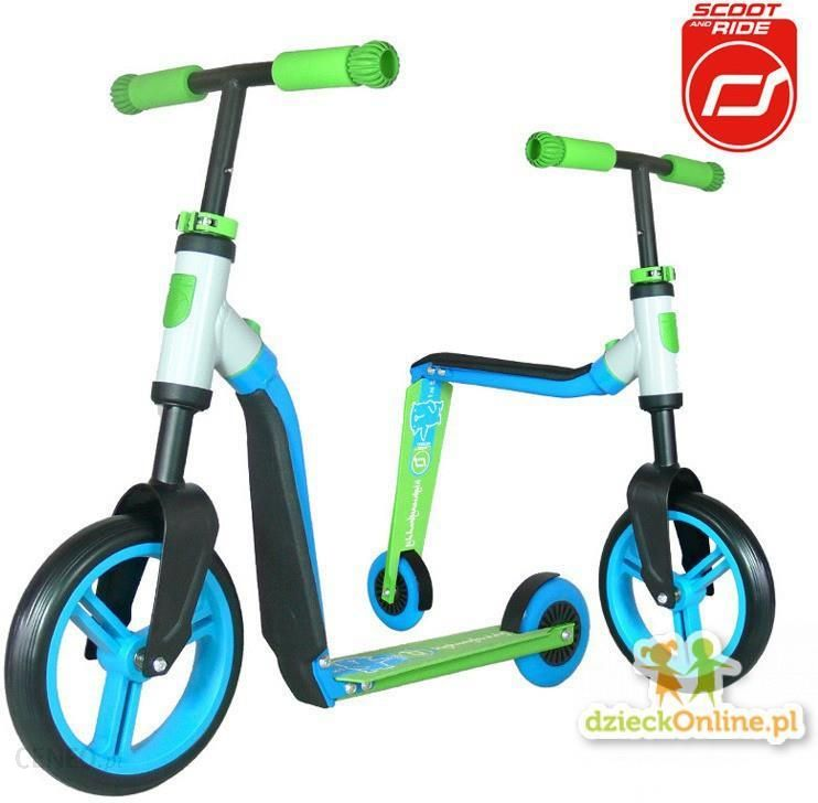 Scootandride Highwaybuddy 2W1 Hulajnoga I Rowerek Blue/Green 234348-1