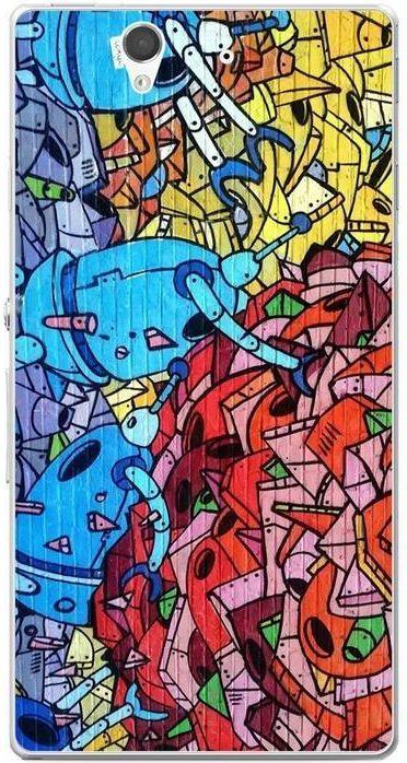 Funcase Hard Sony Xperia Z Graffiti Robots